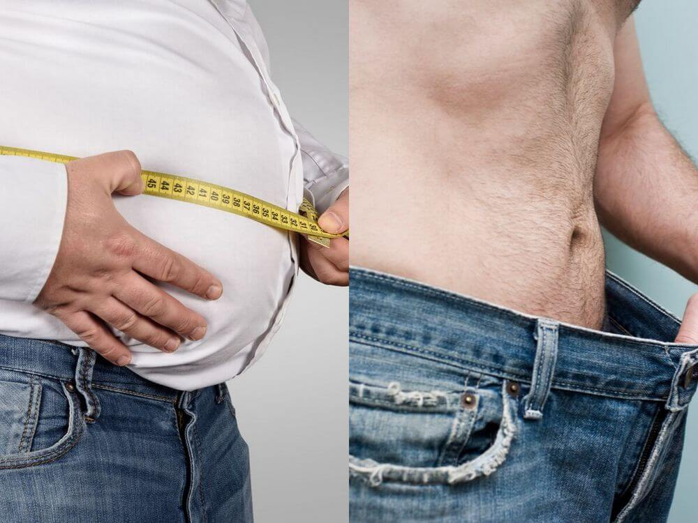 man after weight loss