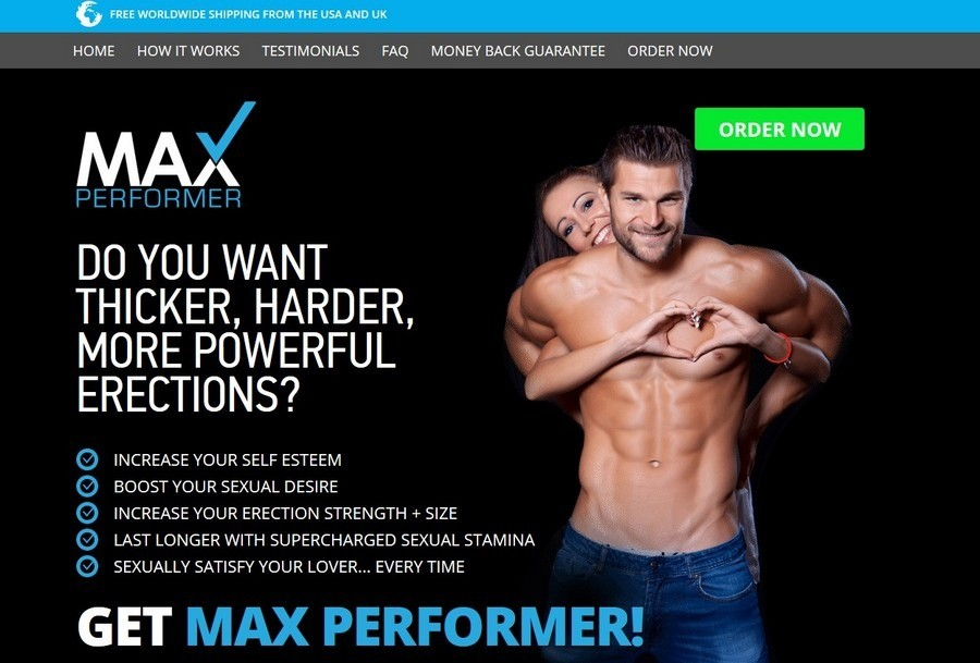 max- performer website