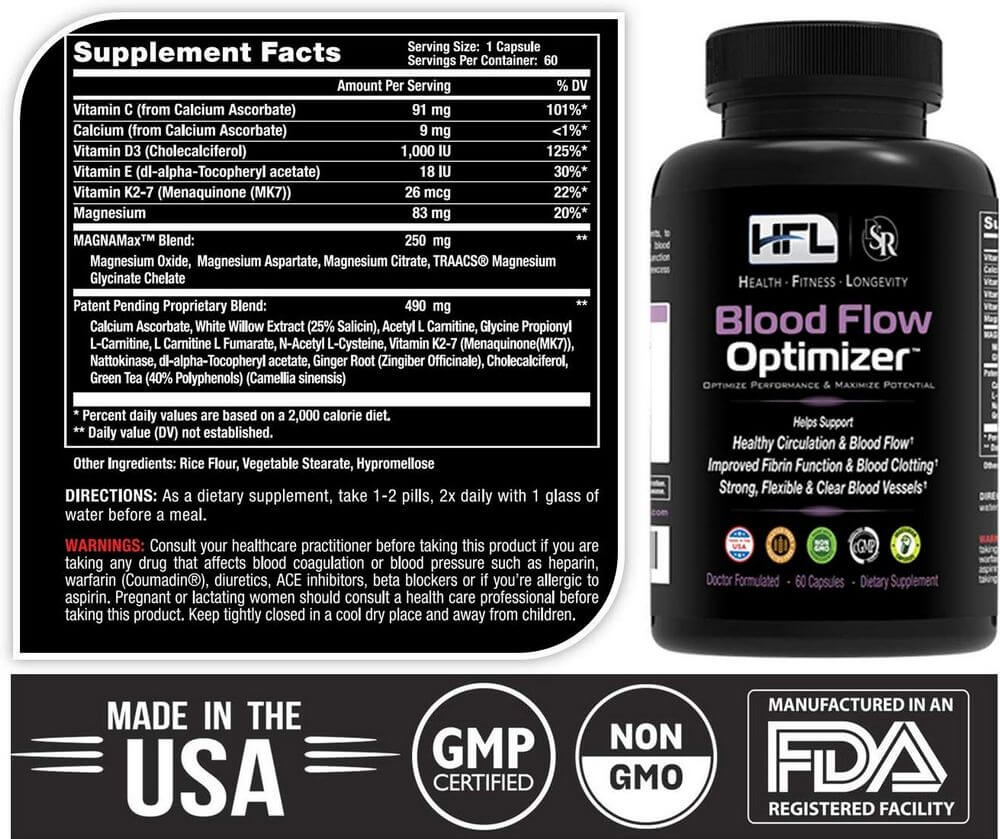 blood flow optimizer ingredients