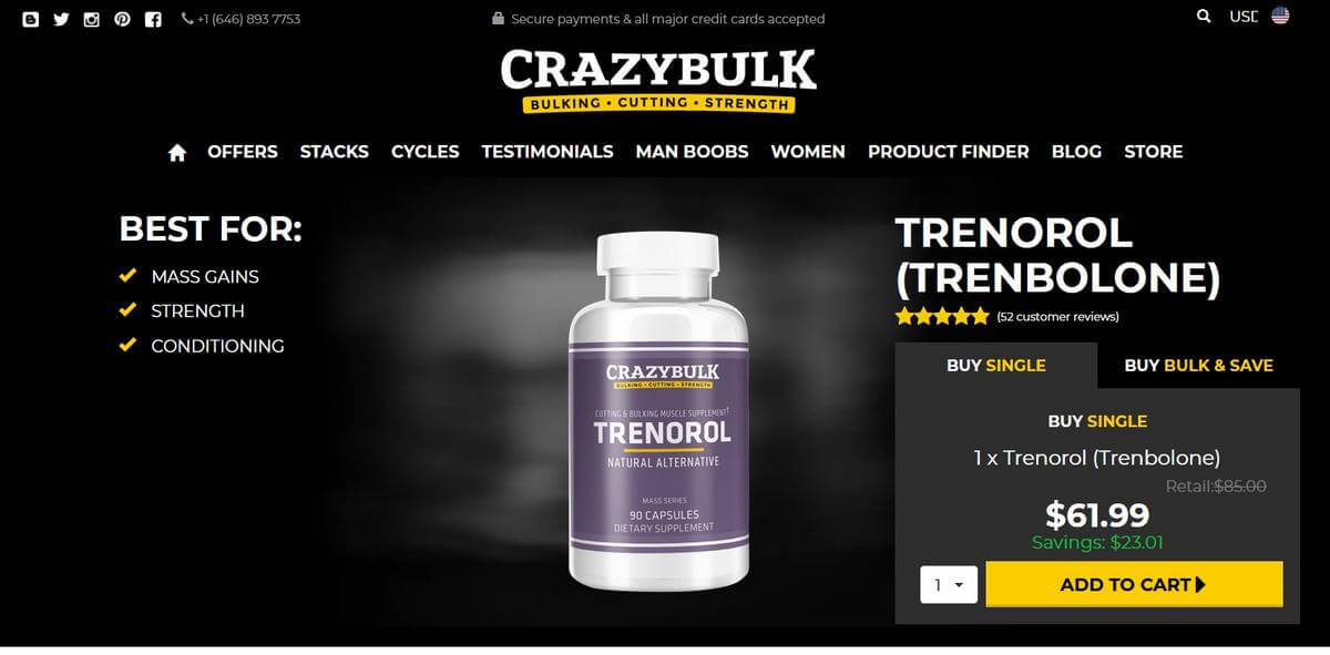 Trenorol website