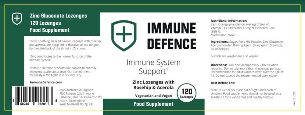 immune defence label