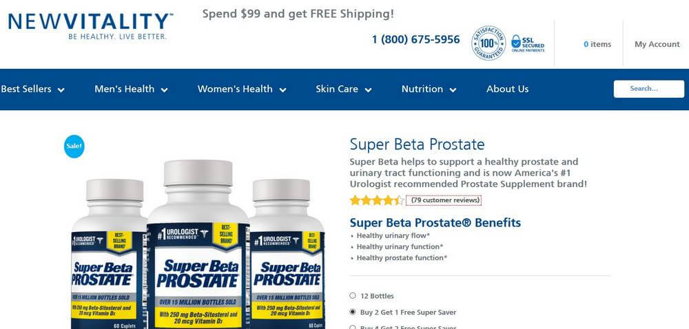 super beta prostate website